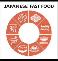 Modern japanese food infographic design template vector
