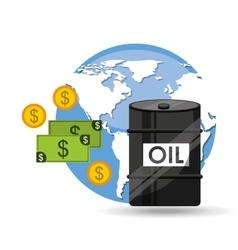 Oil and petroleum industry global money vector