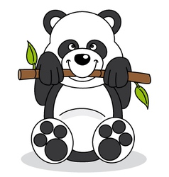 Panda eating bamboo vector
