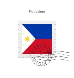 Philippines Flag Postage Stamp vector