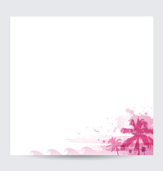 pink palm tree design tropical summer background vector image