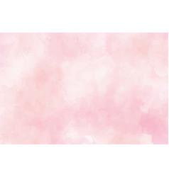 pink watercolor wet wash splash background vector image