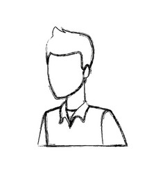 portrait young guy student person vector image