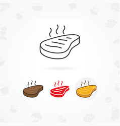 Roast beef icon vector