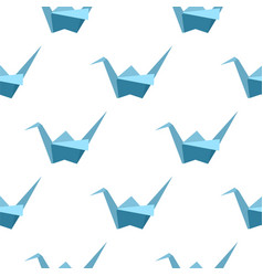 Seamless pattern with origami cranes vector