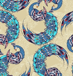 Seamless pattern with the swans vector
