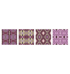 set different seamless colored vintage vector image
