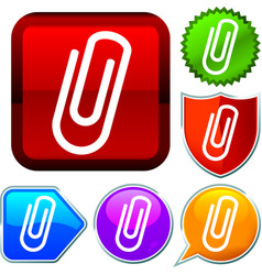 Set shiny icon series on buttons clip vector