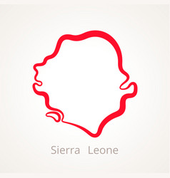 Sierra leone - outline map vector