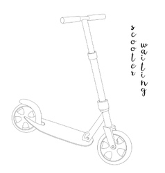 Sketch a Scooter vector image