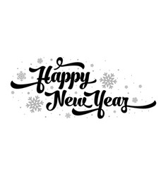 text on white background happy new year vector image