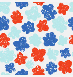 Trendy seamless pattern with pastel flowers vector