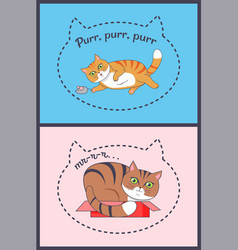two posters with nice cats vector image