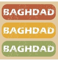 Vintage Baghdad stamp set vector