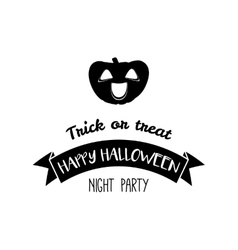 Vintage Happy Halloween Trick or treat vector image