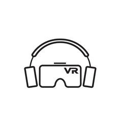 Virtual reality vr icon graphic design template vector