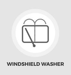 wiper icon flat vector image