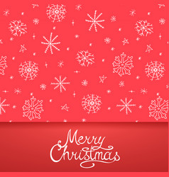 xmas greeting card - calligraphy lettering vector image