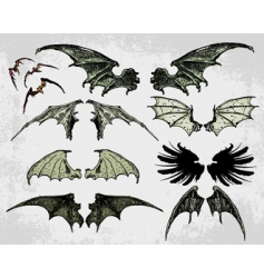 batwings vector image