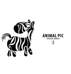 cartoon zebra vector image