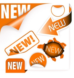 new tags vector image vector image