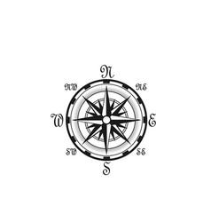 seafarer navigation compass nautical icon vector image vector image