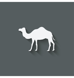 camel design element vector image
