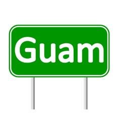 Guam road sign vector image vector image