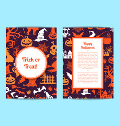 halloween card or flyer templates with vector image vector image