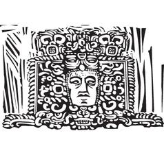 Head Relief vector image vector image