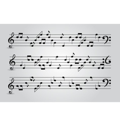 musical notes abstract background vector image