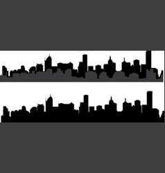 silhouette of city 2 vector image