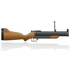grenade gun 02 vector image vector image