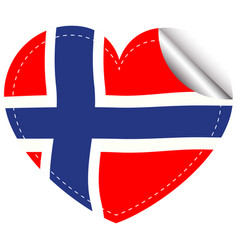 sticker design for flag of norway vector image
