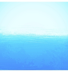 Abstract bright painted blue ocean background vector image