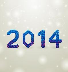 blue 2014 christmas backgorund vector image vector image
