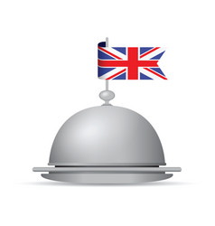 uk flag dinner platter vector image