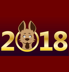 2018 pictures of the dog gold rooms design a gre vector image