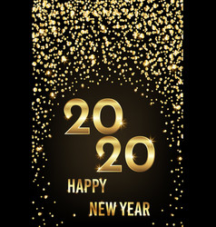 2020 happy new year congratulation with gold vector image