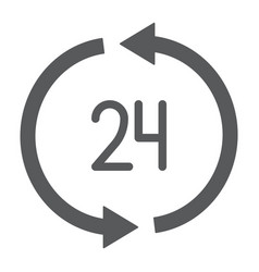 24 hours delivery glyph icon service and delivery vector image