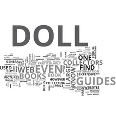 A guide to dolls text word cloud concept vector