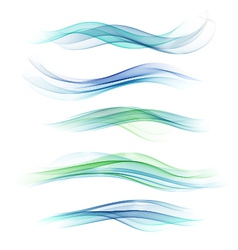 Abstract Waved Design vector image
