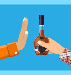 alcohol abuse concept vector image