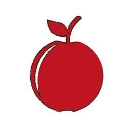 Apple fruit icon image vector