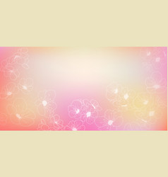 background cherry blossoms vector image