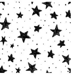 beautiful monohrome black and white seamless sky vector image