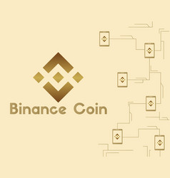 binance coin style technology background vector image