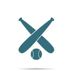 blue baseball ball icon isolated on background mo vector image