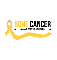 bone cancer awareness vector image