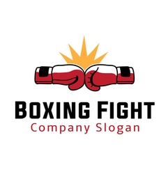 Boxing Fight Design vector